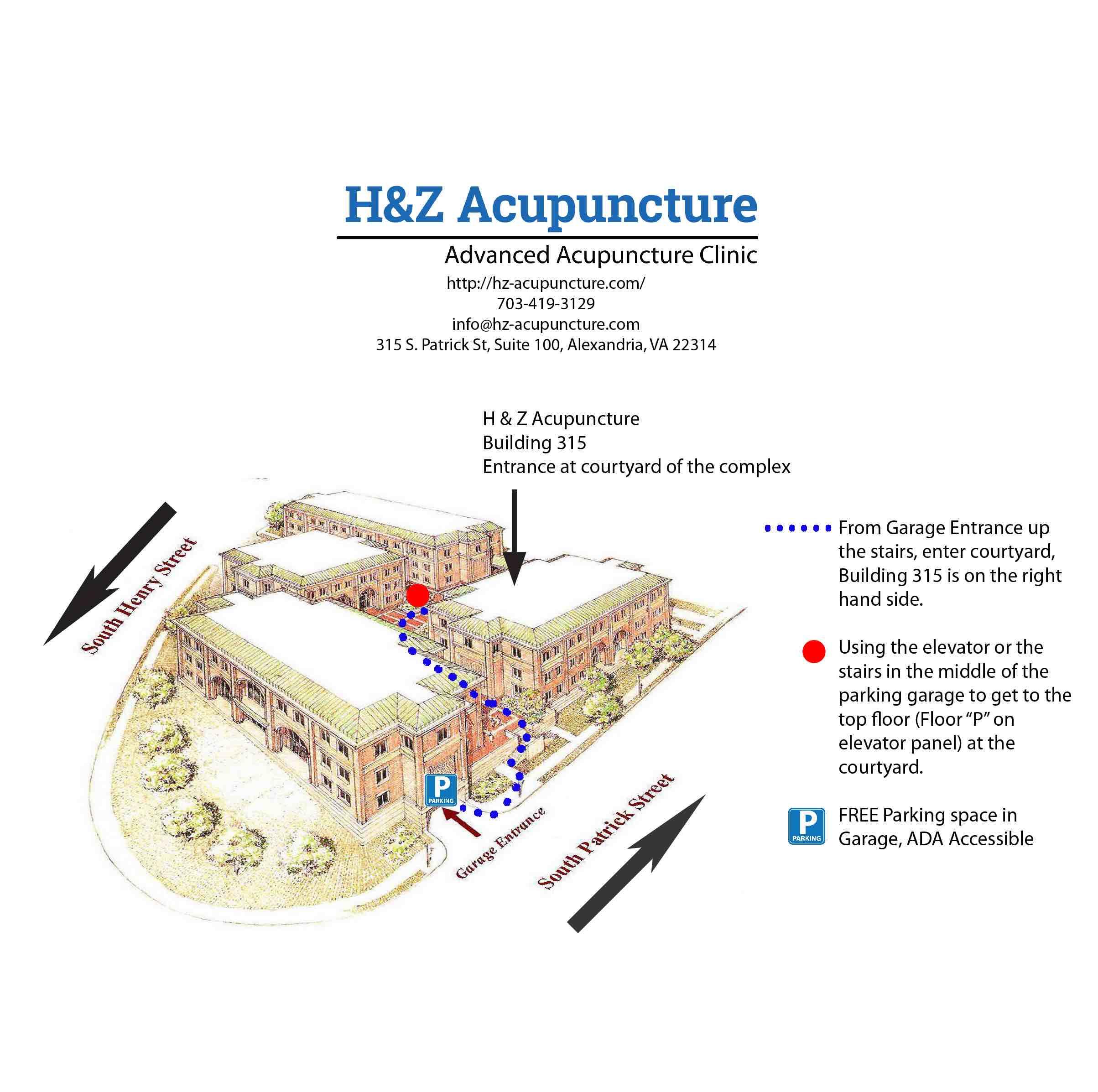 H&Z Acupuncture Entrance Direction